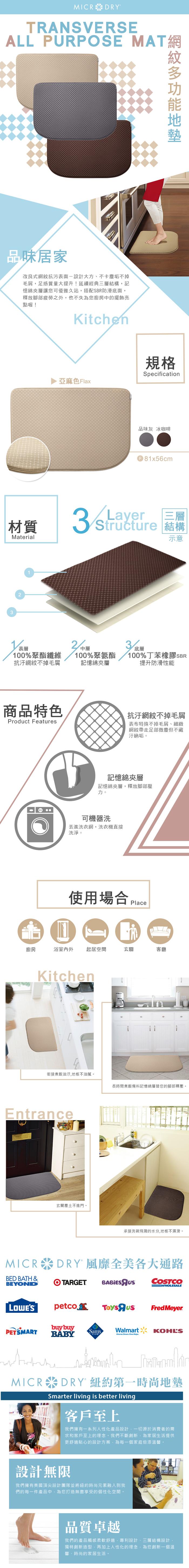 (複製)Microdry|網紋多功能地墊-冰咖啡