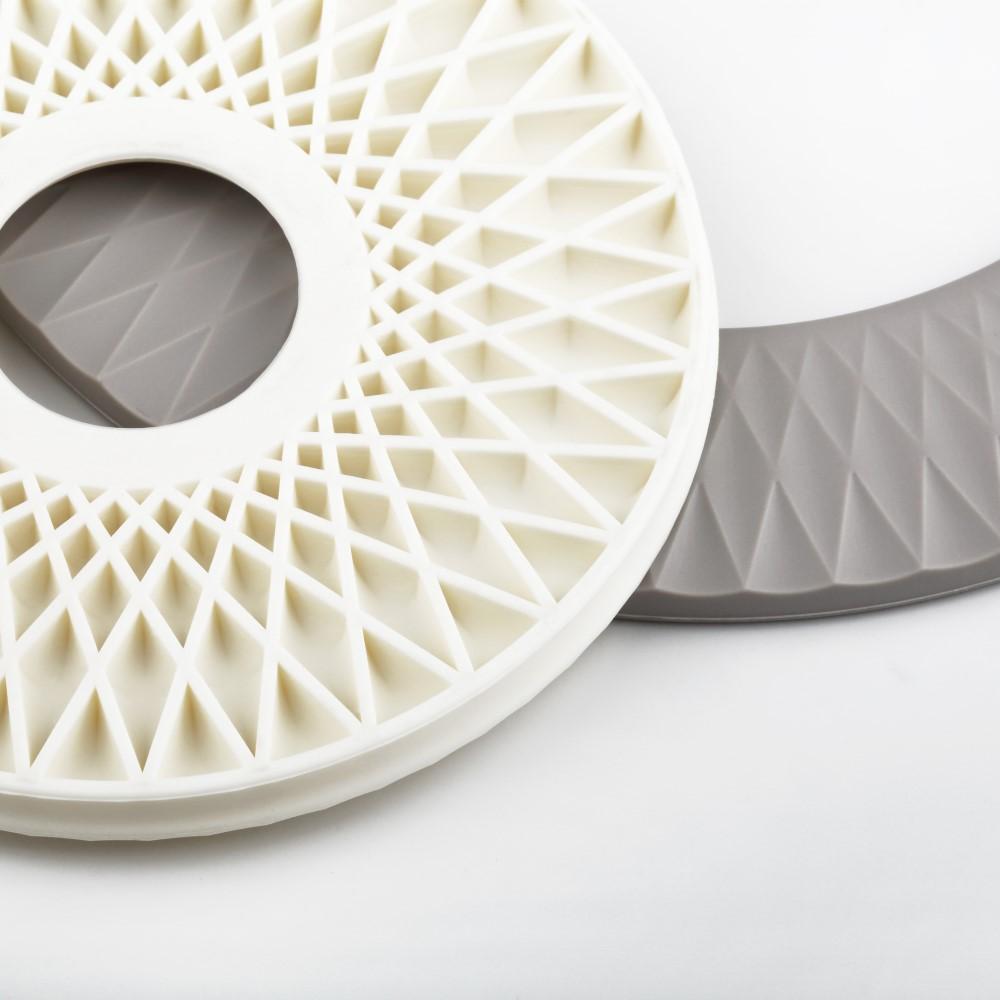 Unique Art|EASY KITCHEN 2合1幾何紋矽膠隔熱墊組