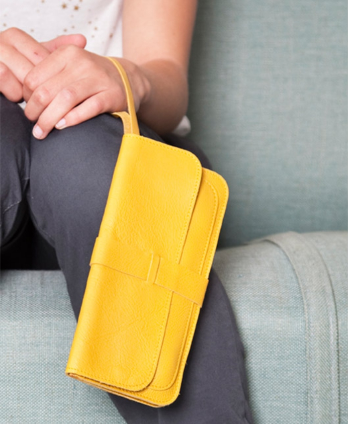 Keeice|最高機密手拿包-野菊黃