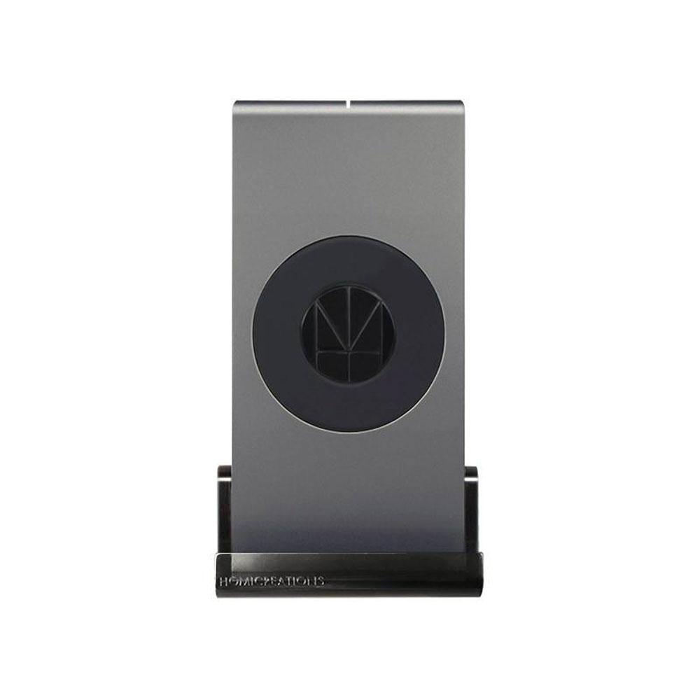 HOMI|MultiDock 鋁鎂合金多功能QI無線充電座 灰