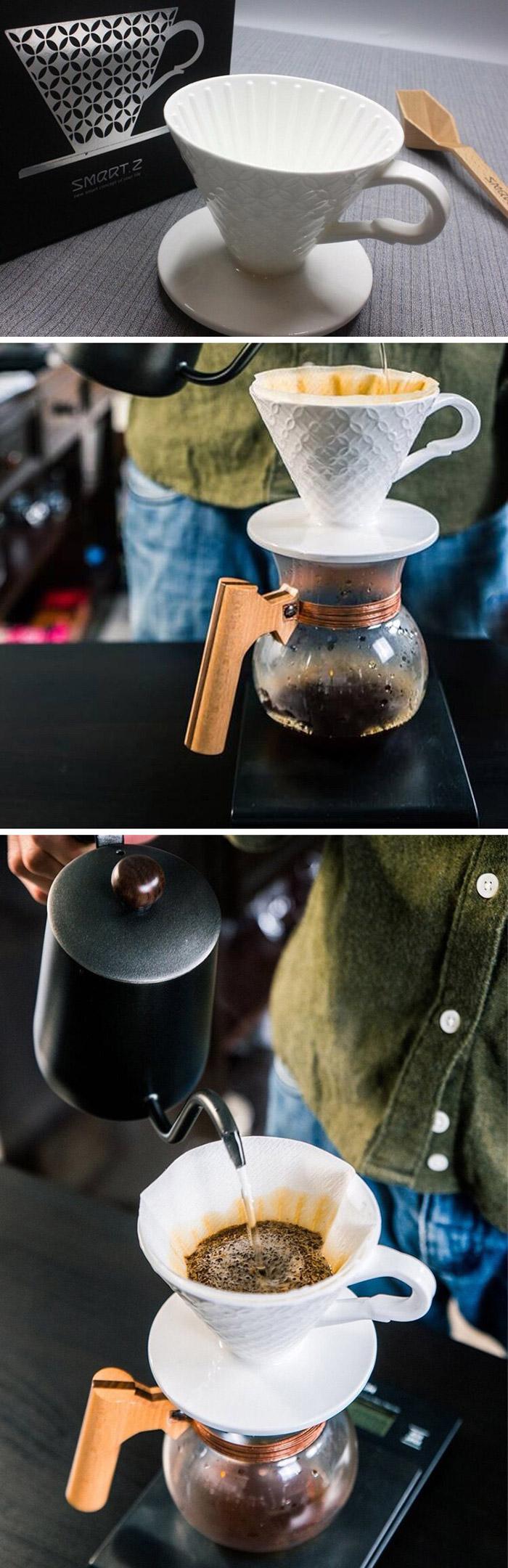 (複製)SMART.Z|頂級雞翅木咖啡沖壺 消光黑(玄鐵黑) 0.55L