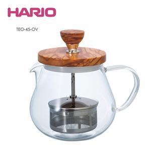 HARIO|橄欖木濾壓茶壺450ml TEO-45-OV