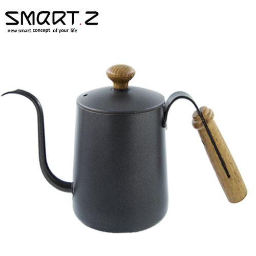 SMART.Z|頂級雞翅木咖啡沖壺 消光黑(玄鐵黑) 0.55L