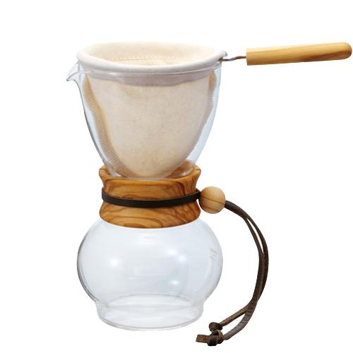 HARIO|濾布橄欖木手沖咖啡壺 DPW-3-OV 3~4杯