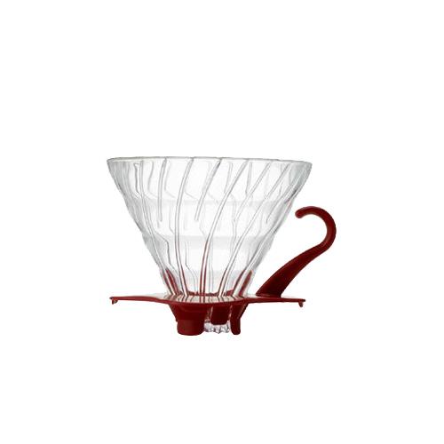 HARIO|V60紅色玻璃濾杯 / 1~4杯 / VDG-02R