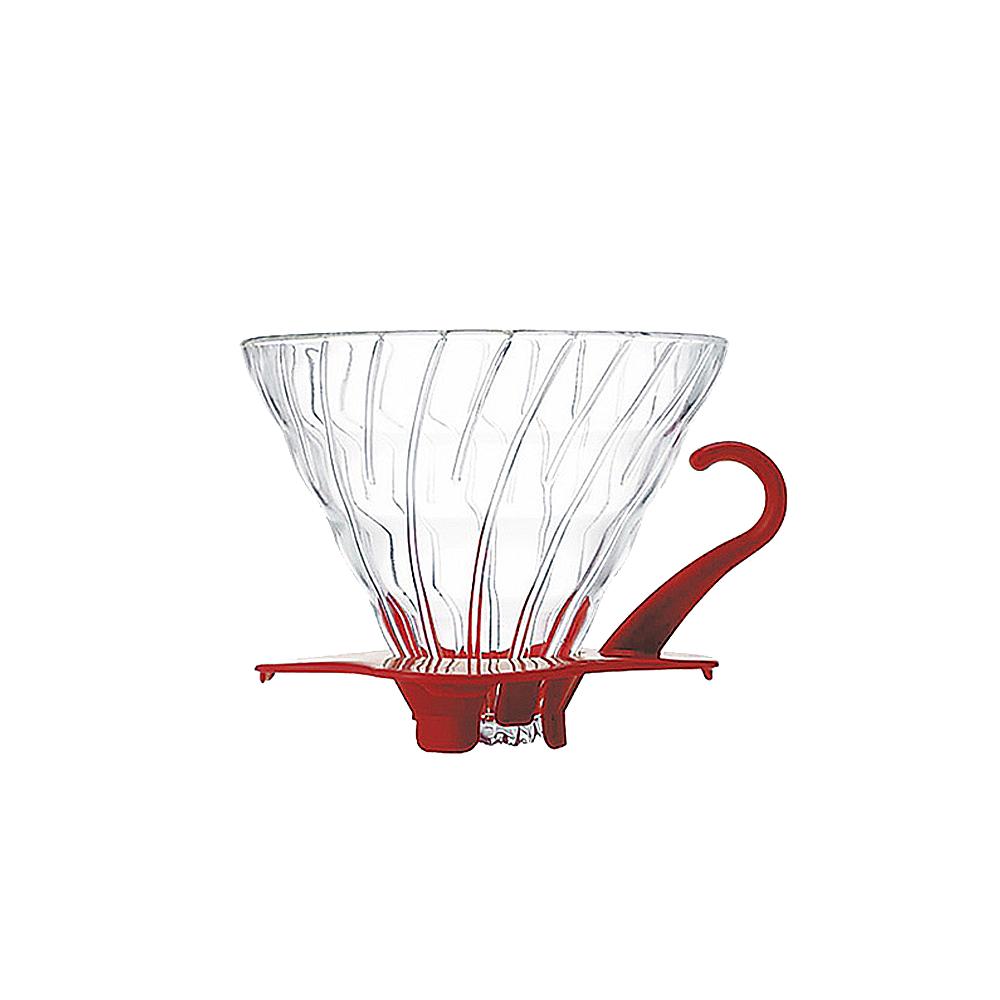 HARIO V60紅色02玻璃濾杯 VDG-02R