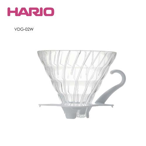 HARIO V60白色玻璃濾杯 VDG-02W 1~4杯