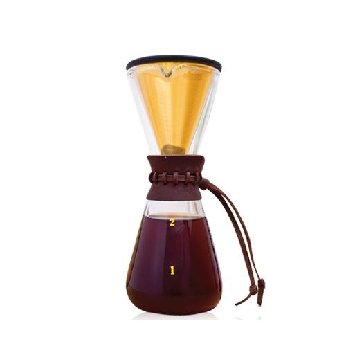 AKIRA 不鏽鋼濾網手沖咖啡組 DPG-1S-TI
