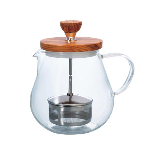HARIO|橄欖木濾壓茶壺700ml TEO-70-OV
