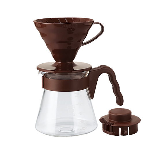 HARIO|V60棕色濾泡咖啡壺組 VCSD-02CBR 700ml