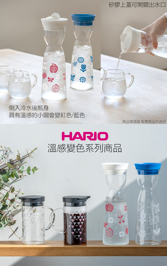 HARIO|夏天藍溫感變色水壺1000ml WJT-10-BU