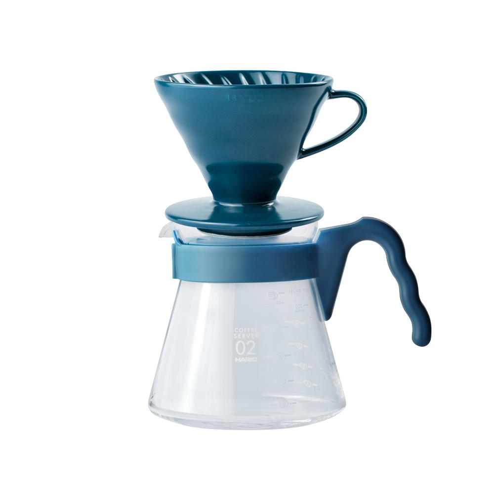 HARIO|V60吳須色02濾杯咖啡壺組