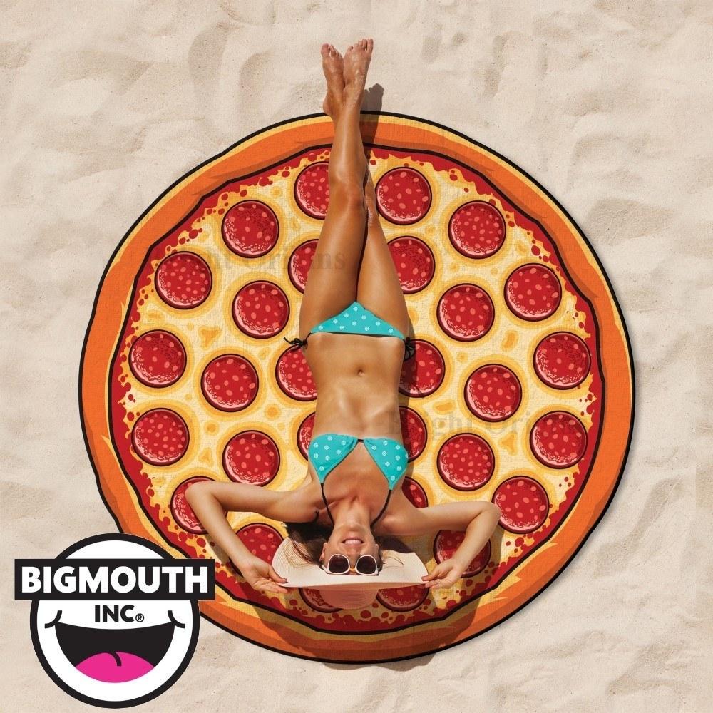 美國 Big Mouth 造型 造型海灘毯 披薩款