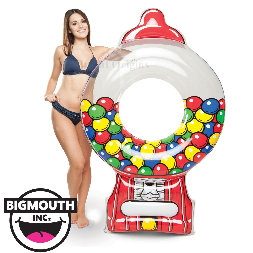 美國 Big Mouth 造型游泳圈 泡泡機款