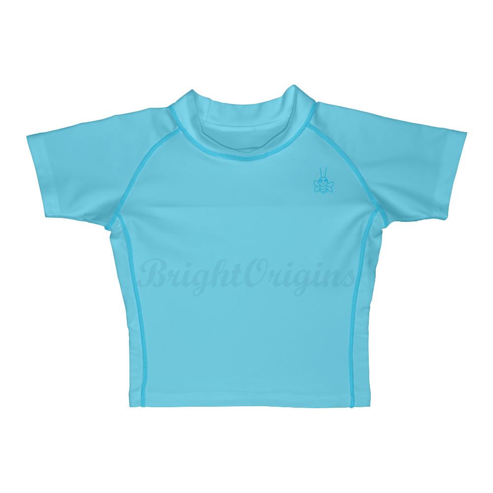 美國 i play|寶寶短袖防曬衣 - 水藍色