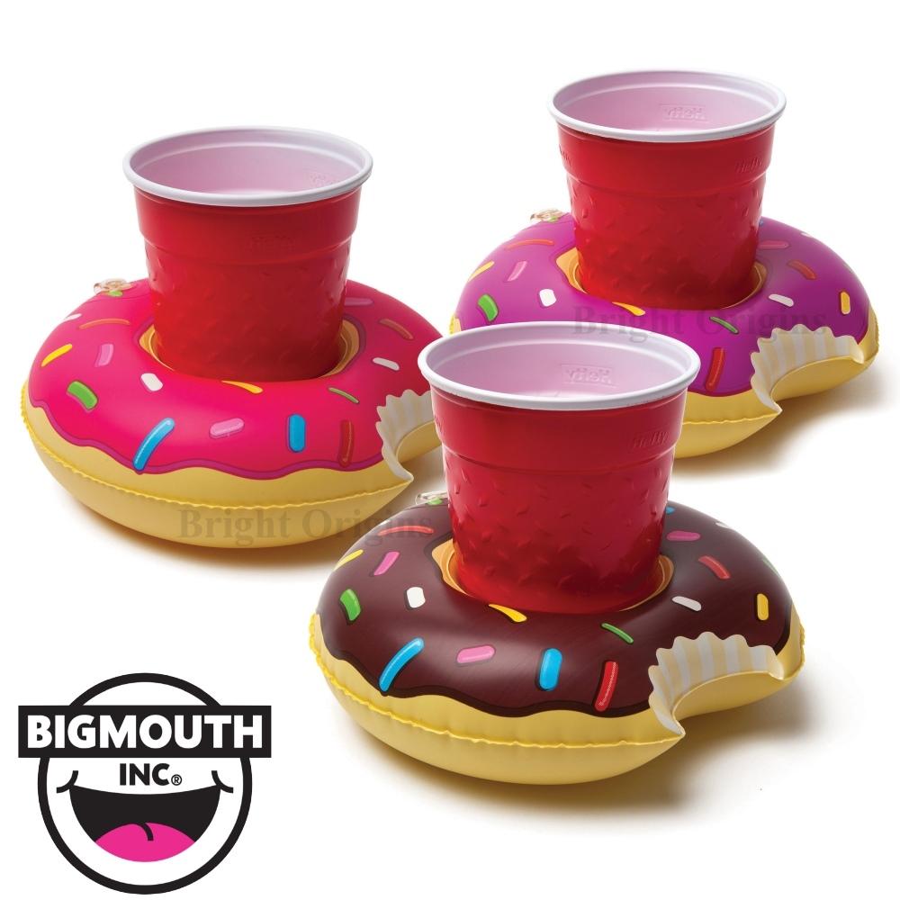 美國 Big Mouth|造型飲料杯游泳圈 甜甜圈系列(3入)