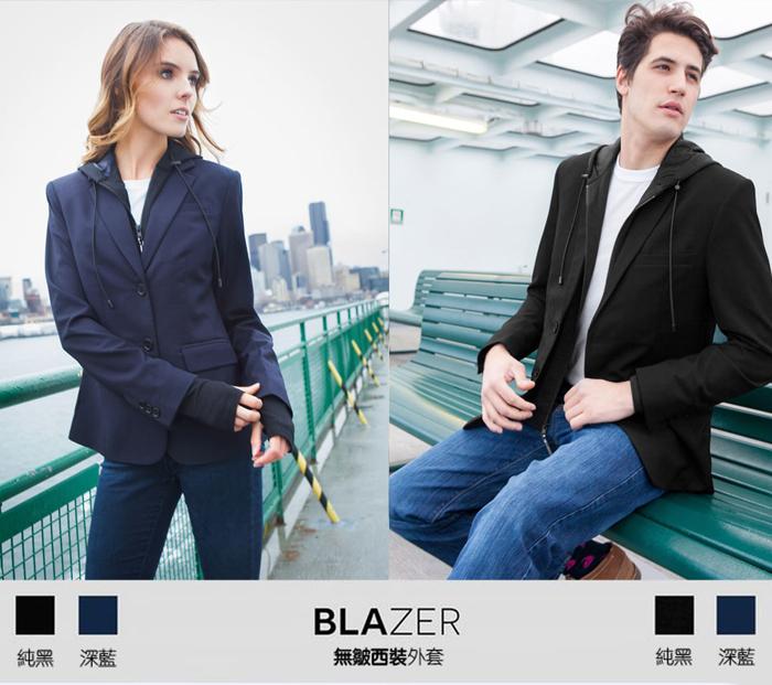 BAUBAX|BLAZER 多功能無皺西裝外套(女)- 海軍藍