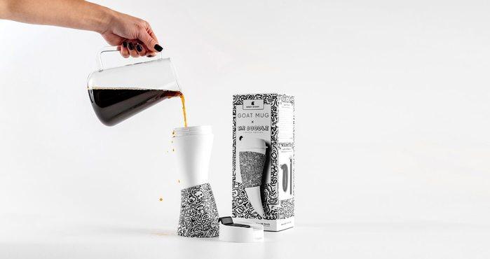 GOAT STORY|Goat Mug Mr. Doodle 聯名款 山羊角咖啡杯 創意插畫塗鴉縣條隨身杯
