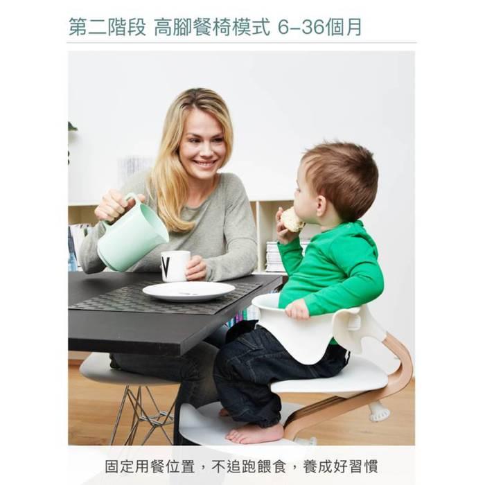 Nomi|丹麥多階段兒童成長學習調節椅(超值組)- 白色