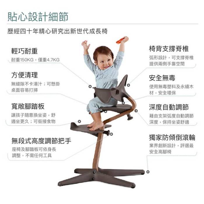 Nomi 丹麥多階段兒童成長學習調節椅豪華組(含躺椅)-粉色