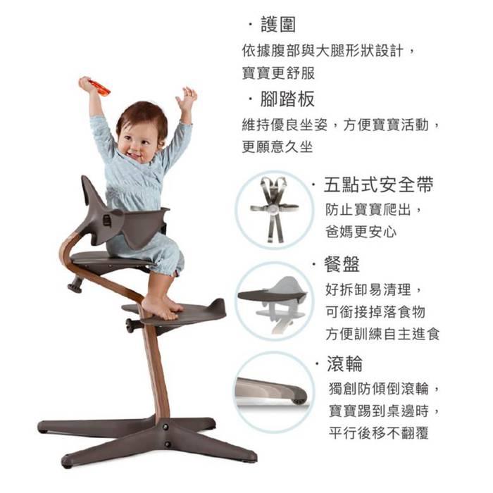 Nomi|丹麥多階段兒童成長學習調節椅豪華組(含躺椅)-綠色