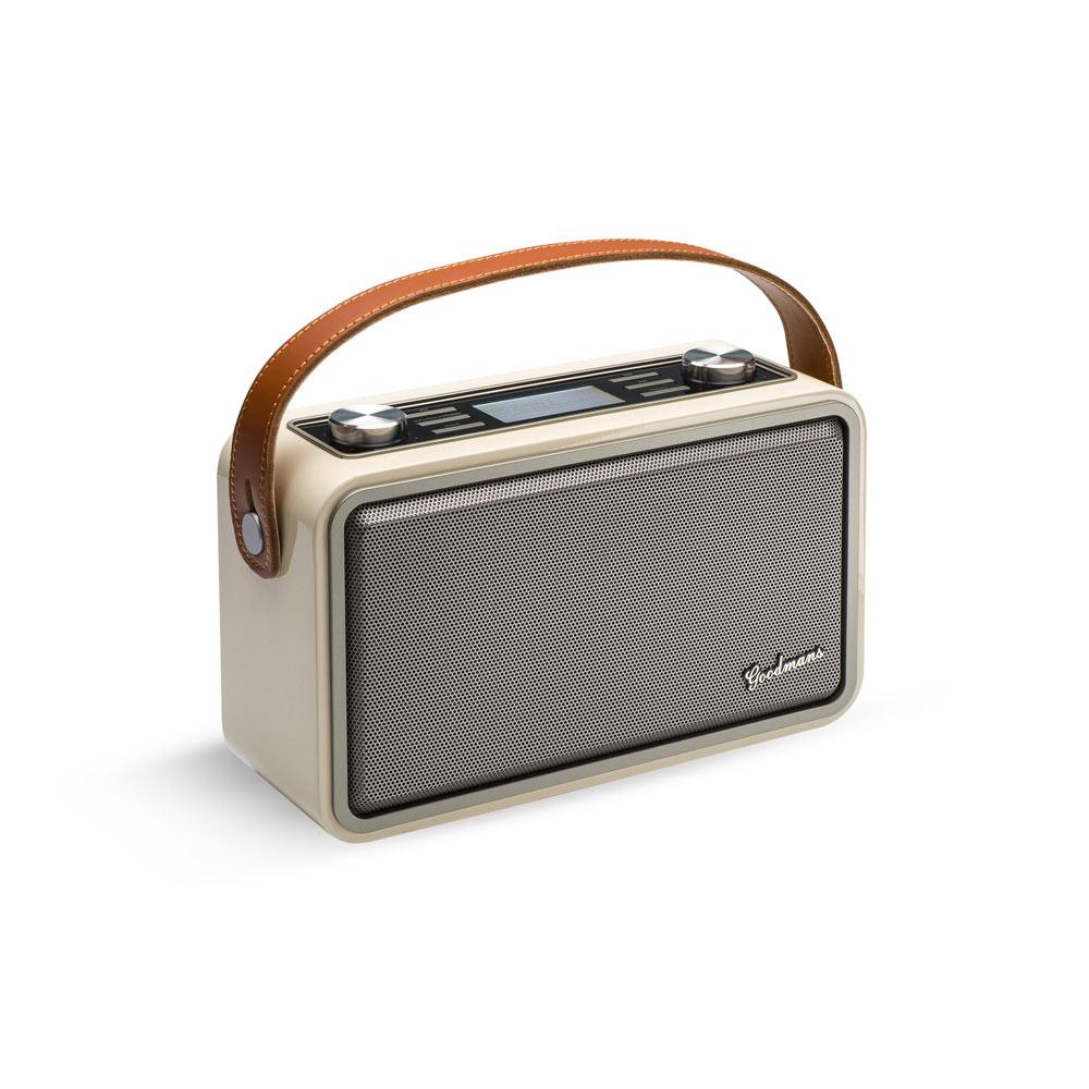 Goodmans|HERITAGE PORTABLE II 經典復古攜帶型藍牙WIFI音響 - 原木色