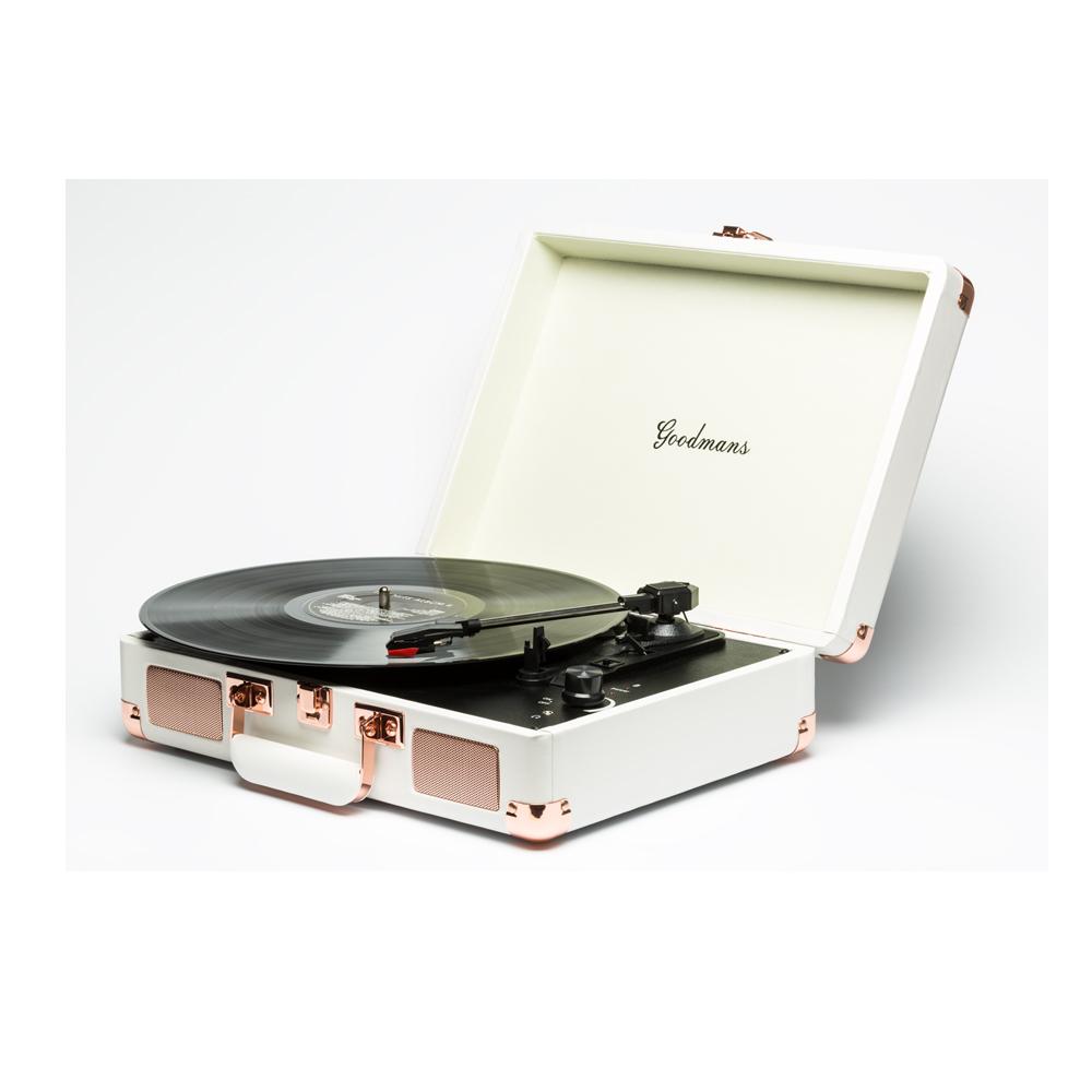 Goodmans|Ealing Turntable 英國手提箱黑膠唱片機 - 白色