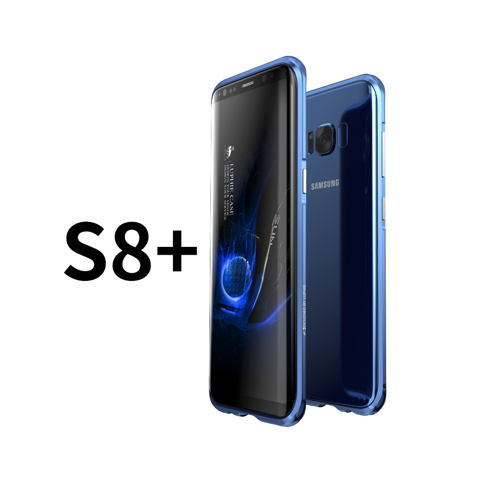 LUPHIE|SAMSUNG S8 Plus鋁鎂合金 防摔金屬邊框 手機殼 保護殼 - 北極銀