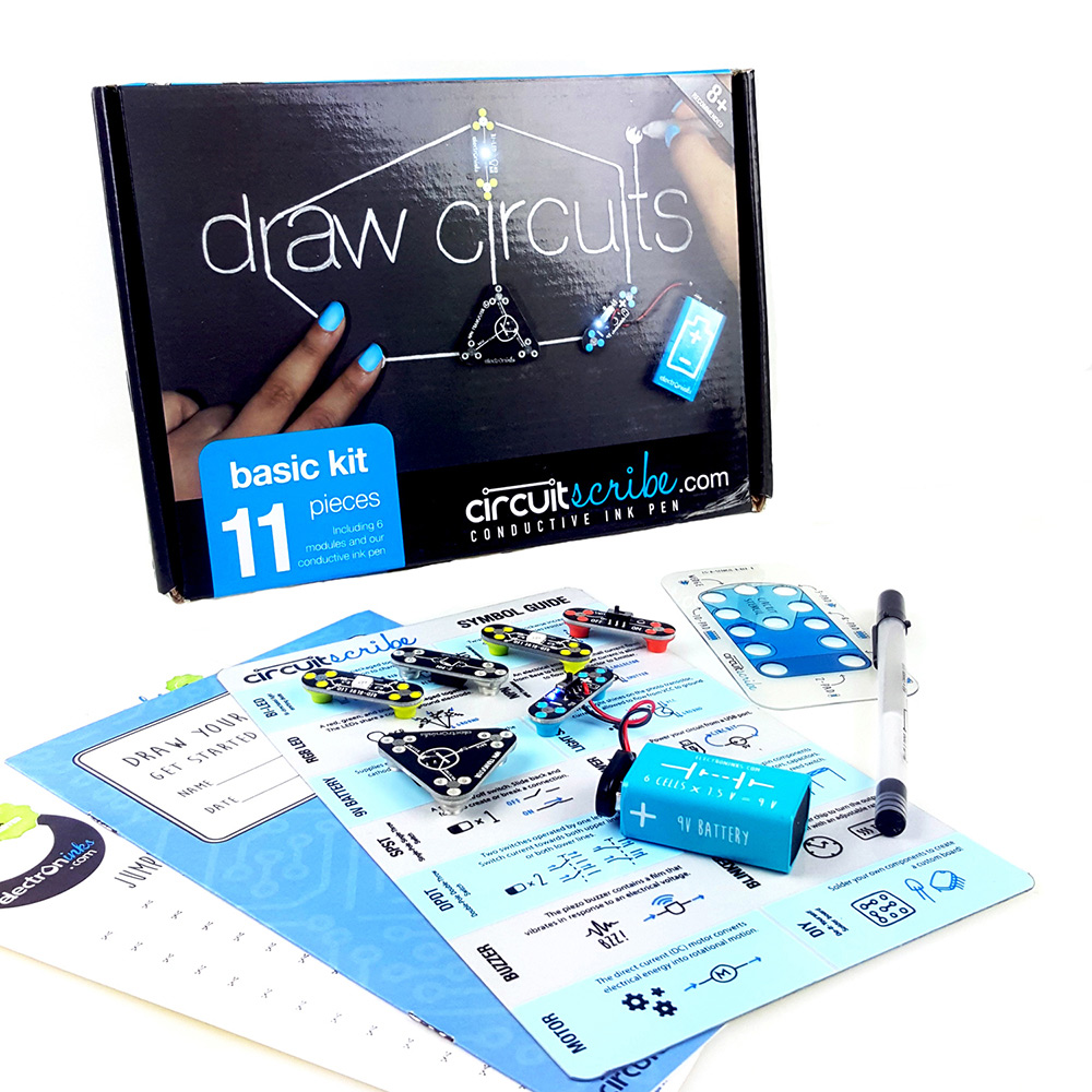 Circuit Scribe|手繪電路筆創客套件 - 基礎版