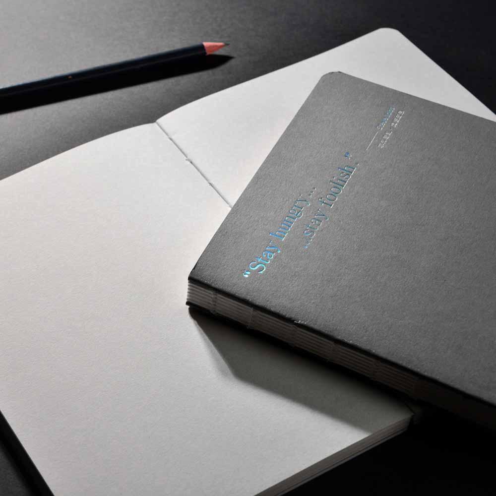 Gee Note|唉呦裸線裝筆記本 - 灰色