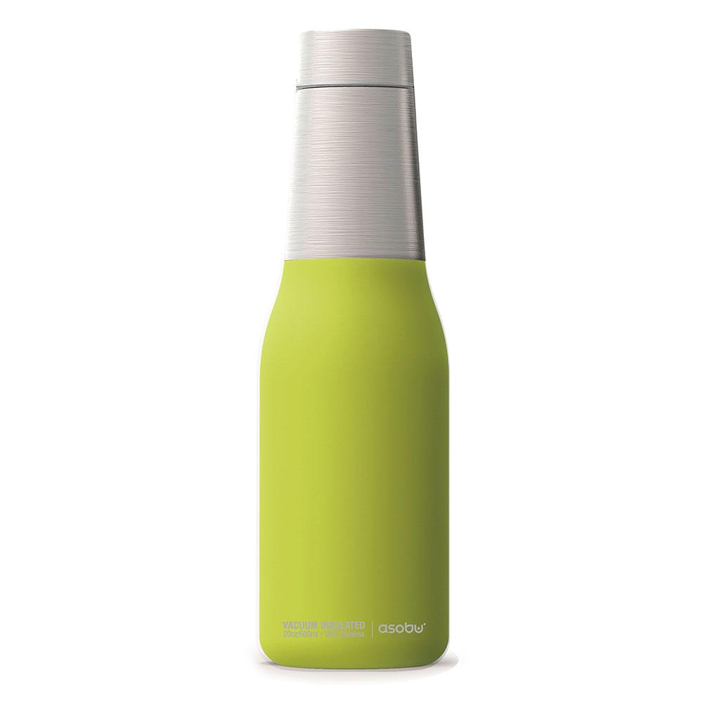Asobu |不鏽鋼繽紛雙層保溫瓶-萊姆綠