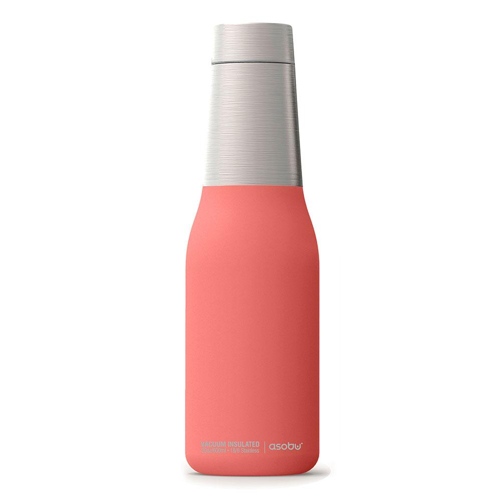 Asobu |不鏽鋼繽紛雙層保溫瓶-蜜桃粉