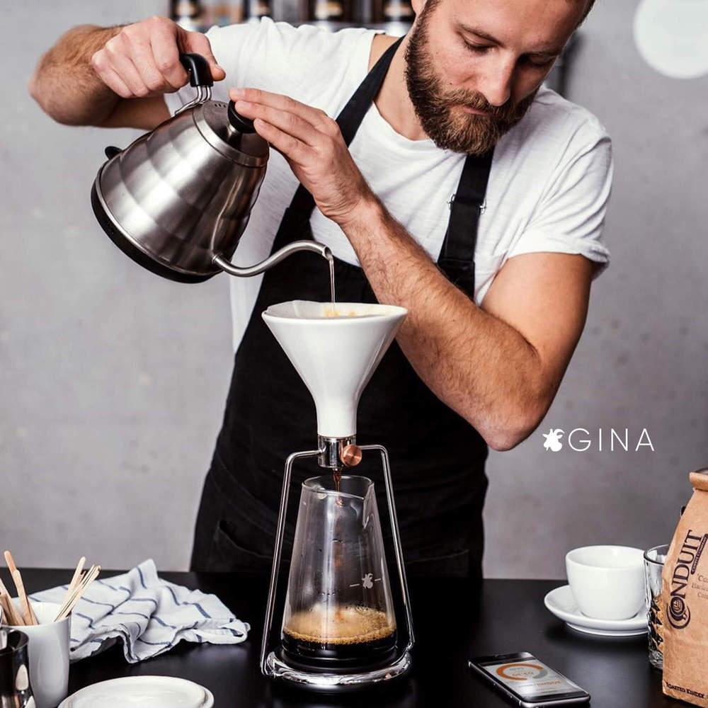 GOAT STORY|GINA 手沖智慧咖啡壺 - 鏡面銀