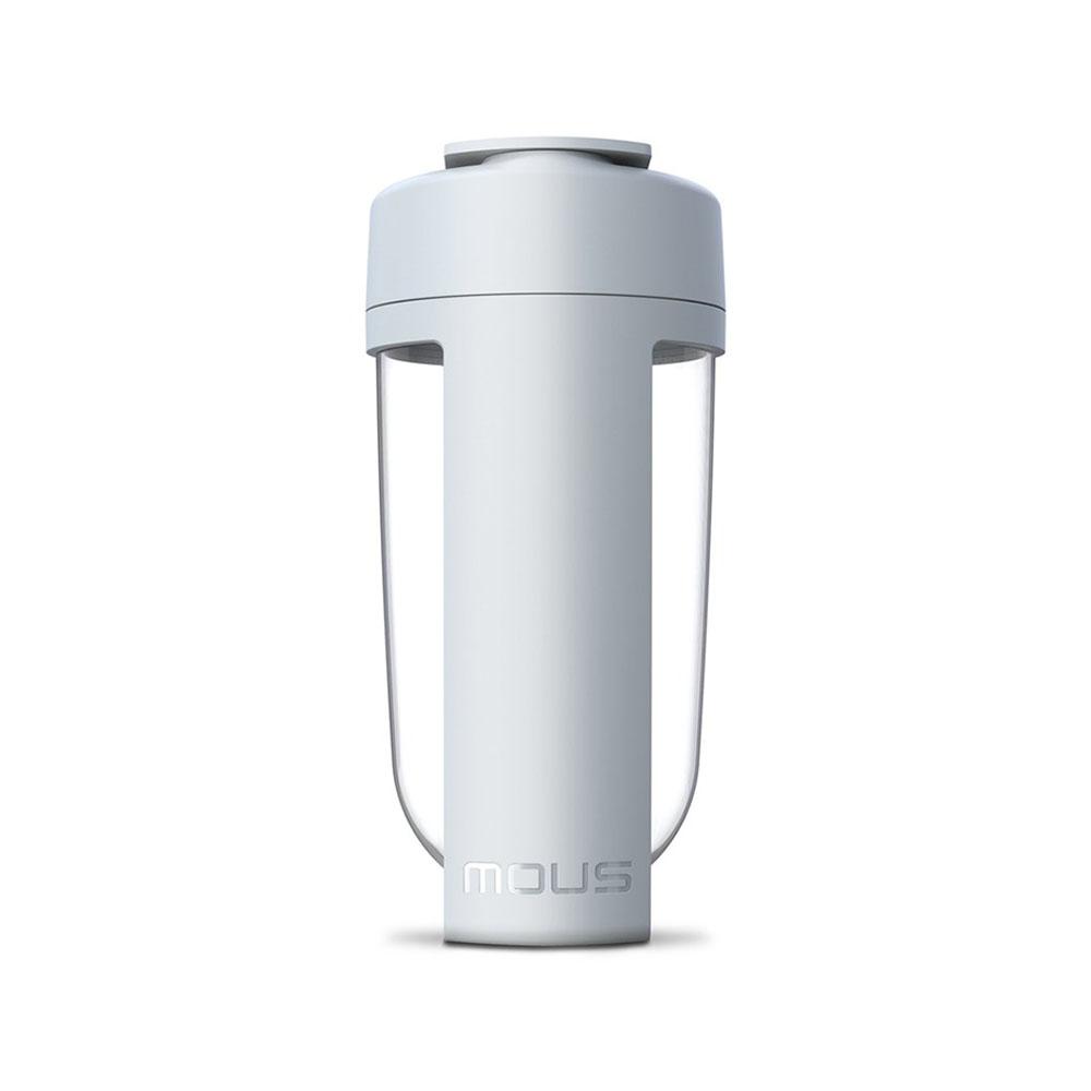 MOUS|澳洲 Fitness 運動健身搖搖杯-灰色 免鋼球大口徑蛋白粉健身奶昔乳清專用Ttita材質