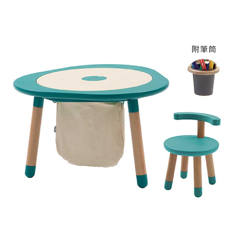 Mukako|MUTable 親子魔法成長桌超值組-薄荷綠