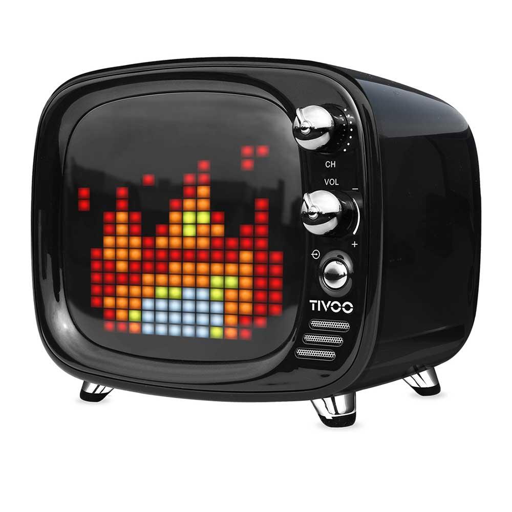 Divoom|Tivoo 智慧復古電視藍牙喇叭 - 午夜黑
