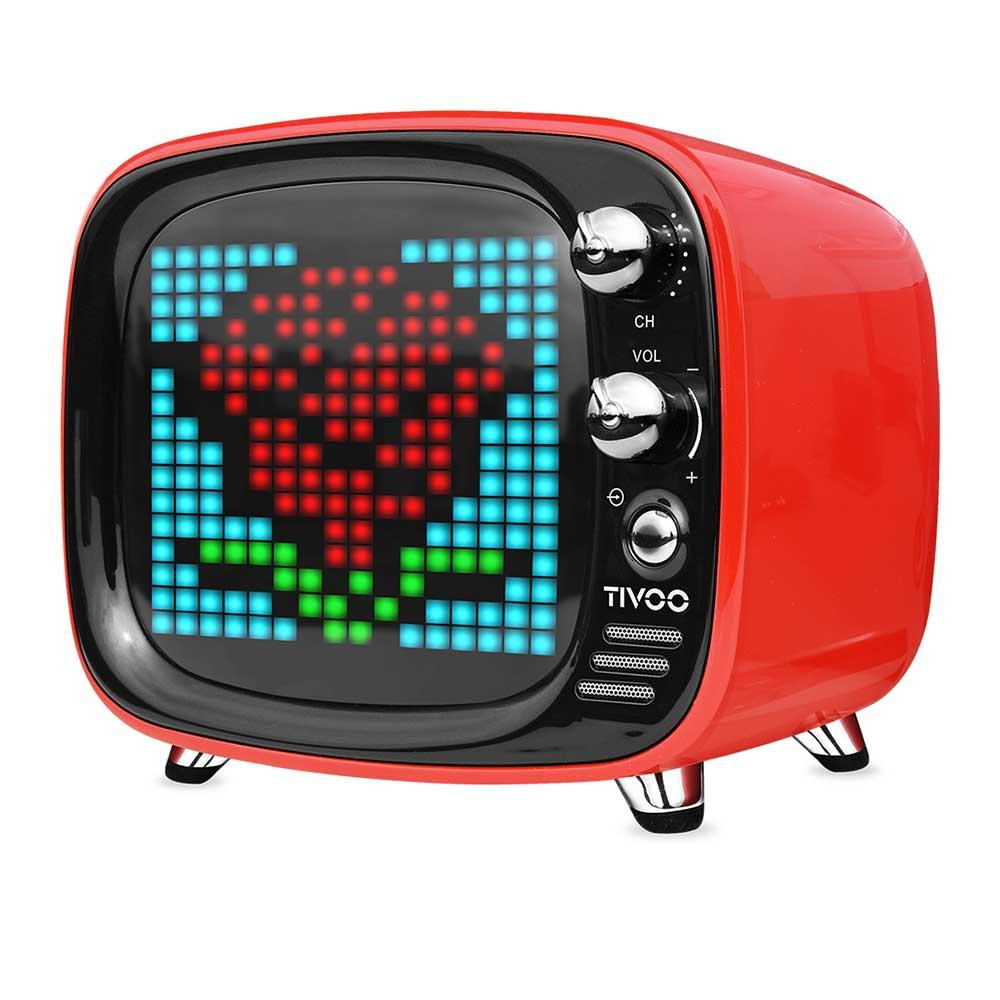 Divoom|Tivoo 智慧復古電視藍牙喇叭 - 璀璨紅