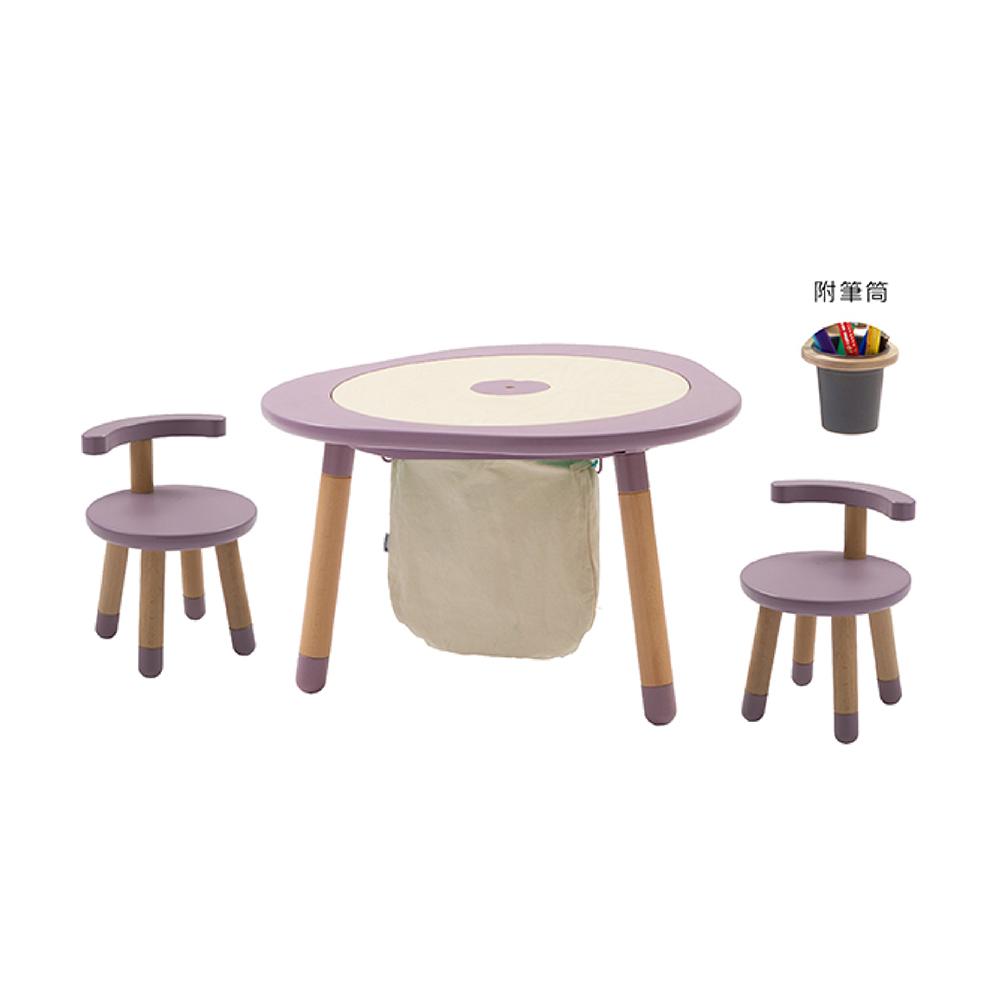 Mukako|MUTable 親子魔法成長桌(豪華組)- 紫藤粉