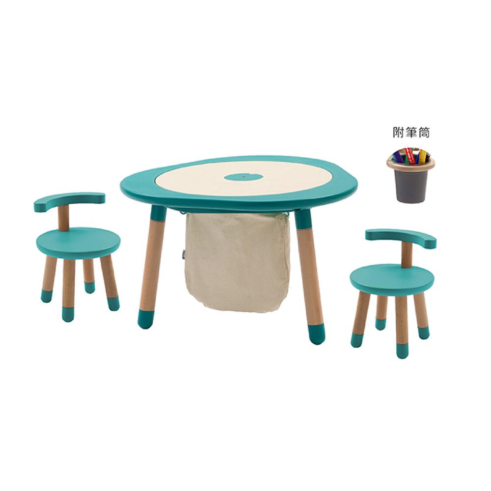 Mukako|MUTable 親子魔法成長桌(豪華組)- 湖水藍