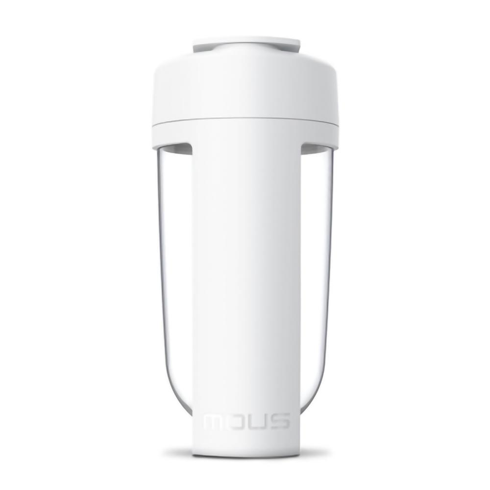 MOUS 澳洲 Fitness 運動健身搖搖杯-白色 免鋼球大口徑蛋白粉健身奶昔乳清專用Ttita材質