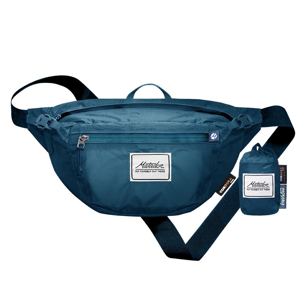 Matador|鬥牛士DayLite Packable Hip Pack 防水旅行腰包 - 藍色