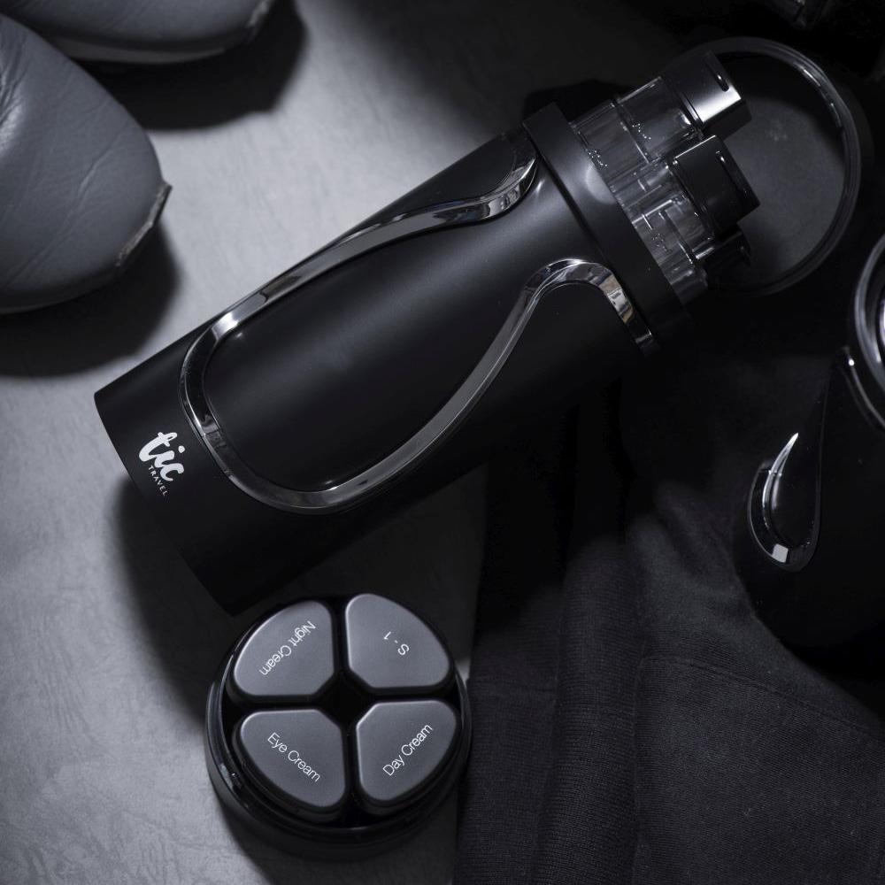 Tic design|旅行分裝收納瓶(保養組)- 經典黑