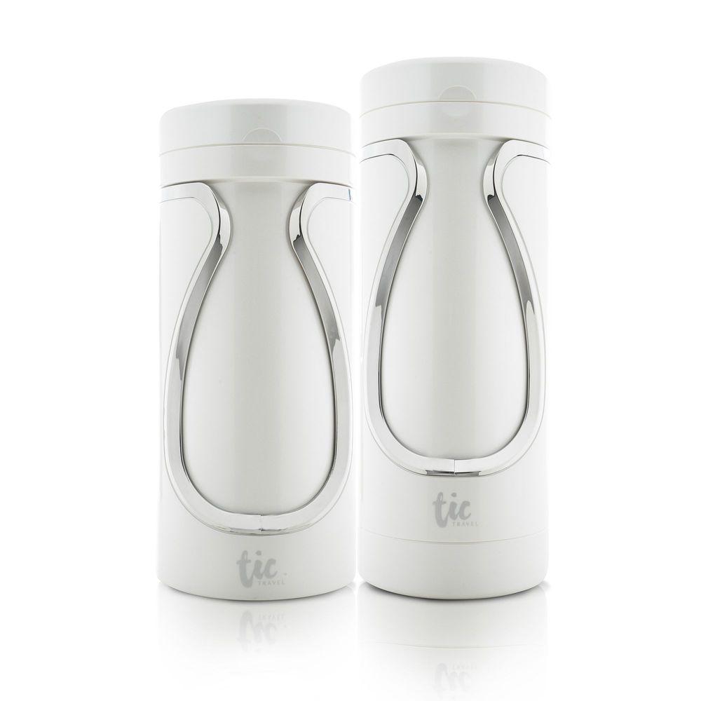 Tic design|旅行分裝收納瓶(沐浴+保養)豪華組 - 珍珠白