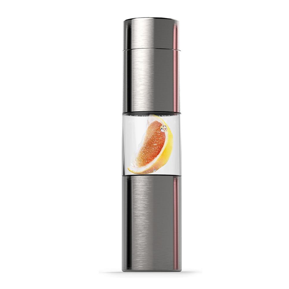 ASOBU|三段式果鮮魔力慢跑瓶-430ml (銀色)