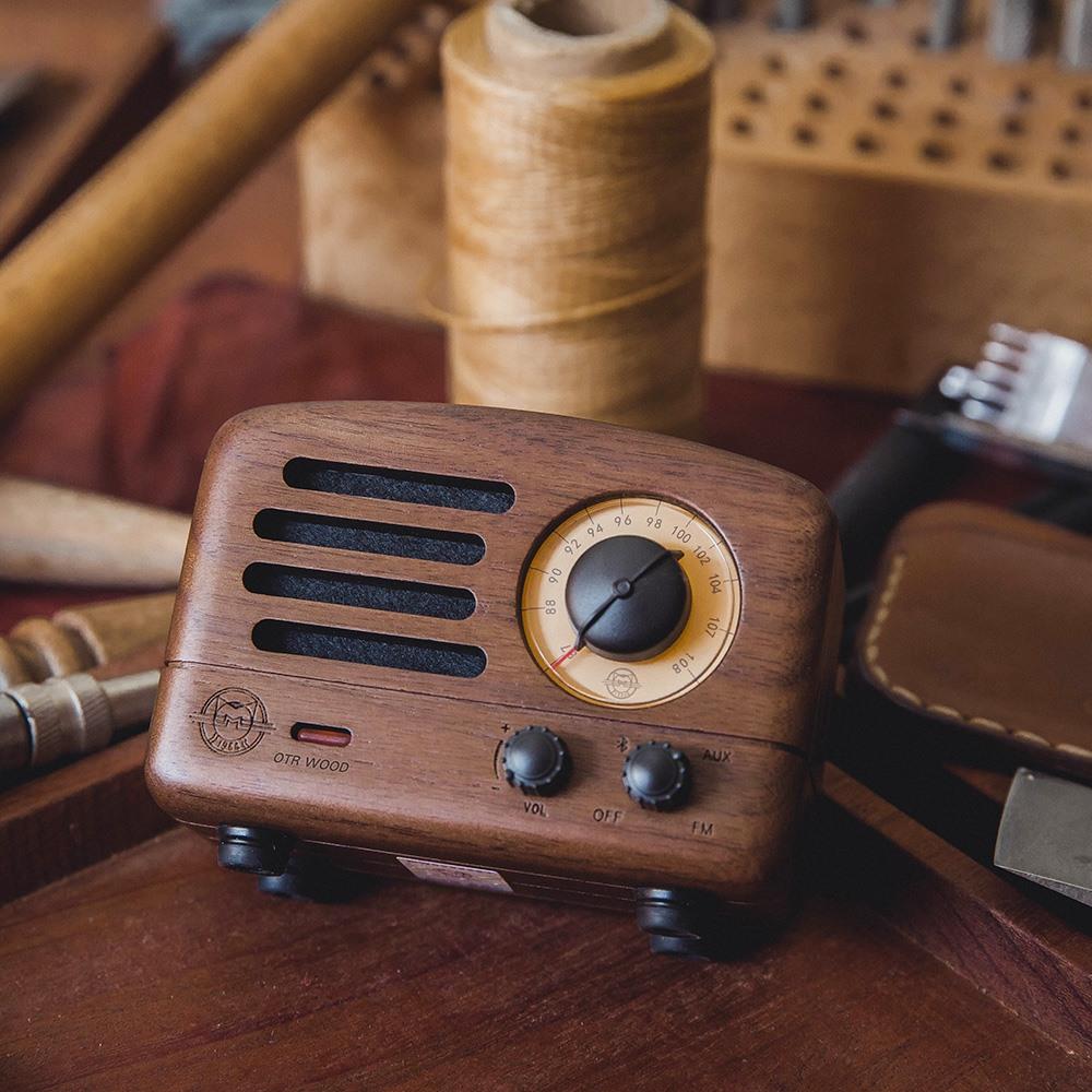 MUZEN|OTR 經典復刻藍牙音響收音機(經典版)-胡桃木
