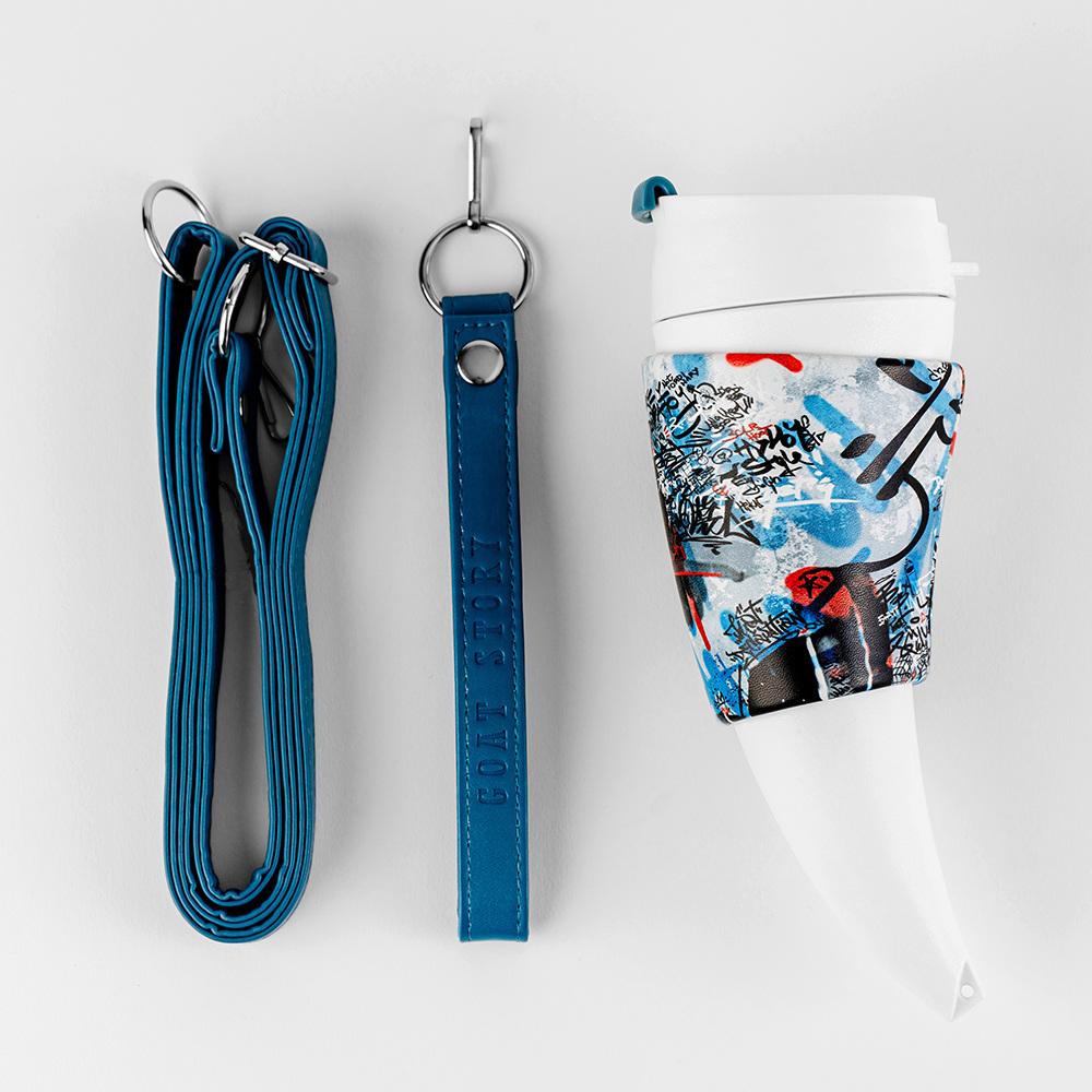Goat Story Goat Mug 12oz/350ml 山羊角咖啡杯-時尚塗鴉系列