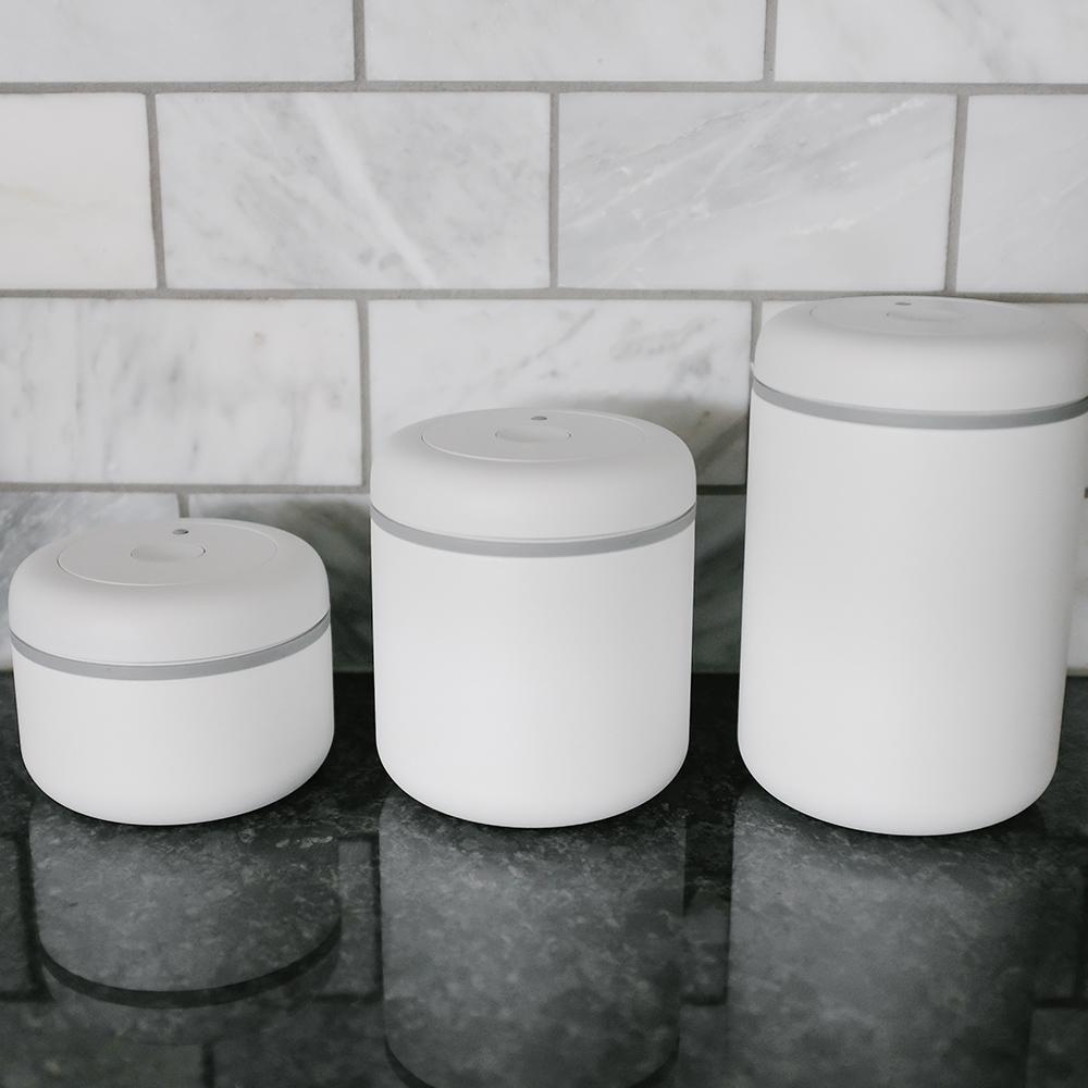 FELLOW|ATMOS不鏽鋼真空密封罐(0.7L)-霧面白