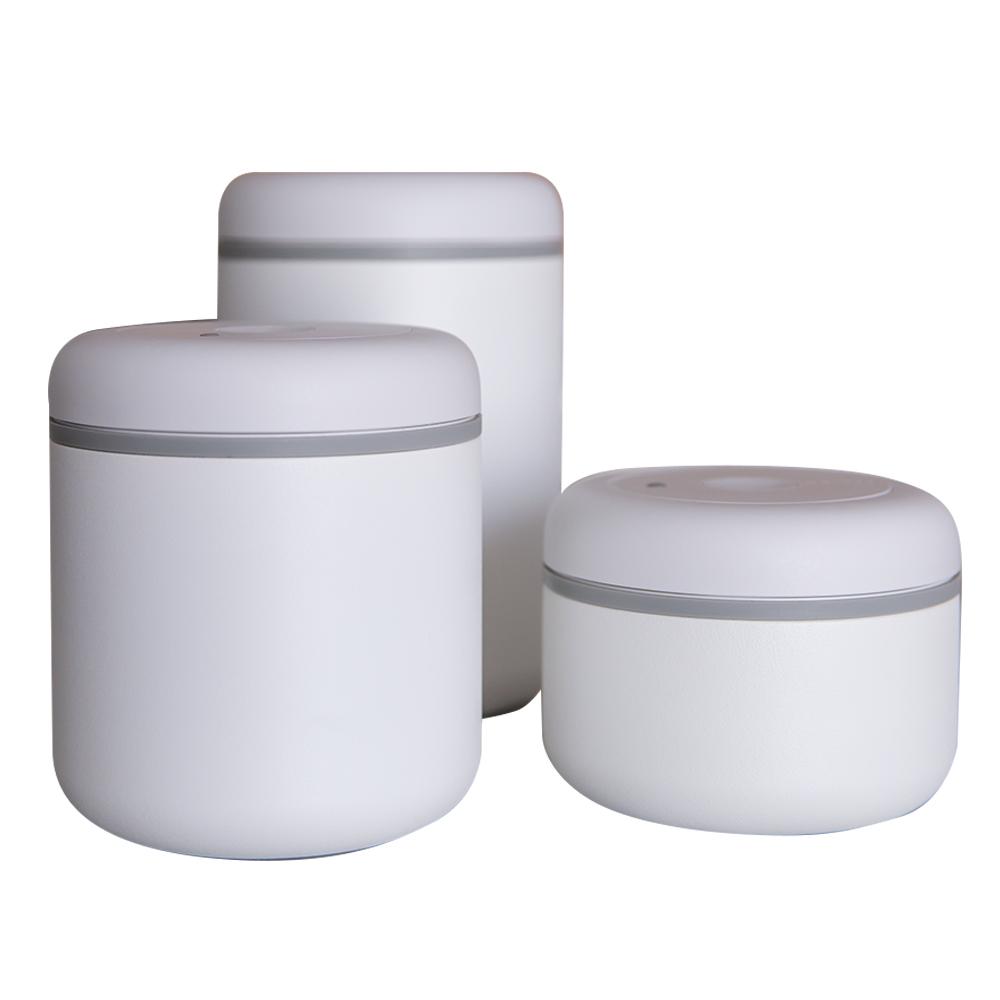 FELLOW|ATMOS不鏽鋼真空密封罐(1.2L)-霧面白