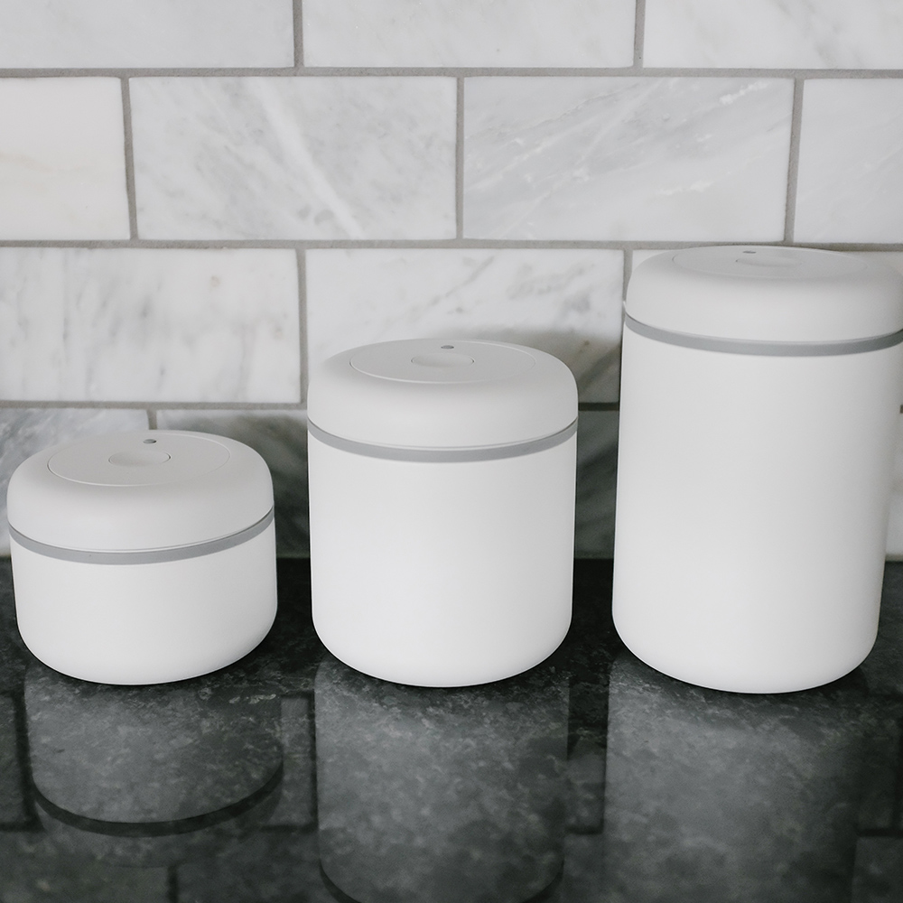 FELLOW | ATMOS不鏽鋼真空密封罐(0.4+0.7L+1.2L)-霧面白-三入組