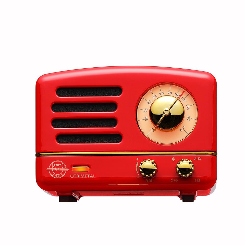 MUZEN |OTR Metal 經典復刻藍牙音響收音機(經典版)-波爾多紅